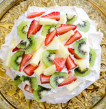Fresh fruits Pavlova Stock Photography