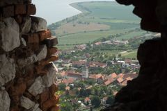 Pavlovdorp in Zuid-Moravië Stock Afbeelding