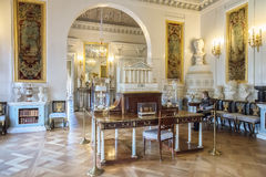 Pavlovsk宫殿的内部,俄国皇家住所, nea 免版税库存图片
