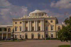 Pavlovsk宫殿, 18世纪俄国皇家住所buil 免版税库存图片