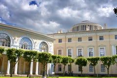 Pavlovsk宫殿, 18世纪,在Pavlovsk的俄国皇家住所在圣彼得堡,俄罗斯附近 免版税图库摄影