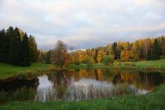 Pavlovsk的,圣彼德堡Pavlovsky公园 免版税库存照片