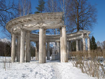 Pavlovsk. Apollo's colonnade in the winter Royalty Free Stock Photos
