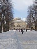 Pavlovsk Avenue triple de chaux et grand palais image stock