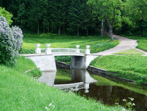 Pavlovsk  Bridge and path to the forest Royalty Free Stock Image