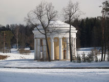 Pavlovsk. The Friendship temple in winter park Royalty Free Stock Photo