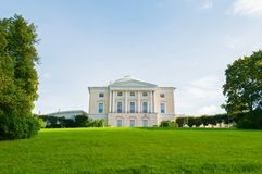 Pavlovsk Palace at the Pavlovsk park territory. It is the summer palace of Russian Emperor Paul I in Pavlovsk, Russia. Pavlovsk, St Petersburg, Russia stock photography