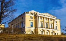 Pavlovsk Palace, St. Petersburg, Russia, Northern Europe. Photography spring landscape of Pavlovsky Park with views of the Pavlovsk Palace in St. Petersburg Stock Photos