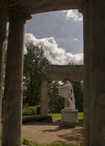 Pavlovsk Park Apollo colonnade in Saint-Petersburg Russia Stock Photos