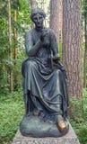Pavlovsk park. The Old Sylvia (Twelve paths) statues. Calliope. Royalty Free Stock Photo