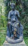 Pavlovsk Park Oude Sylvia & x28; Twaalf paths& x29; standbeelden euterpe Royalty-vrije Stock Fotografie