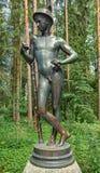 Pavlovsk park Stary x28 & Sylvia; Dwanaście x29 paths&; statuy rtęć zdjęcie stock