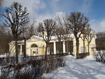 Pavlovsk. Pavilion Open-air cage (Hen house) in winter park Stock Images