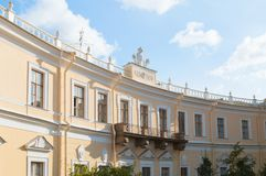 Pavlovsk Palace - summer palace of Russian Emperor Paul I in Pavlovsk, St Petersburg Russia, facade view. PAVLOVSK, RUSSIA - SEPTEMBER 21, 2017. Pavlovsk Palace stock photography