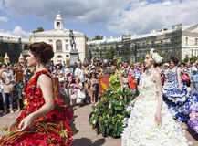PAVLOVSK, RUSSIE - 18 JUILLET 2015 : Photo des floralies festival Image libre de droits