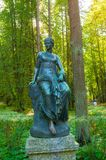 Bronze sculpture of Euterpe - the muse of music and eloquence royalty free stock photos