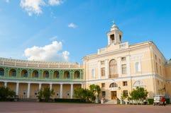 Pavlovsk Palace, summer palace of Emperor Paul I in Pavlovsk, St Petersburg , Russia. Pavlovsk, St Petersburg, Russia - September 21, 2017. Pavlovsk Palace royalty free stock images