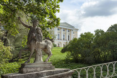 Pavlovsk, the statue of the centaur Royalty Free Stock Photography