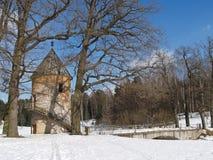 Pavlovsk Tour de Pil et pont de Pilbashenny Photographie stock