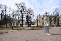 Pavlovsky宫殿的剧情 免版税库存照片