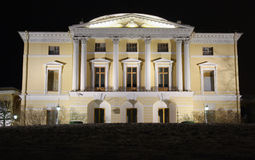 Pavlovsky Palace at Winter Night Stock Image