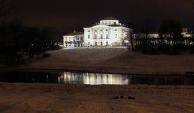 Pavlovsky Palace at Winter Night Stock Images