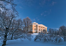 Pavlovsky palace in winter Stock Photo