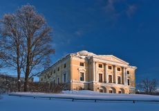 Pavlovsky palace in winter Royalty Free Stock Images