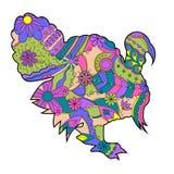 Pavo colorido Imagen de archivo libre de regalías