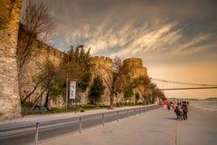 Pavo de la fortaleza de Rumeli Foto de archivo libre de regalías