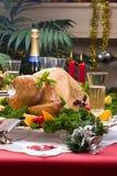 Pavo de la Navidad en el vector del día de fiesta Foto de archivo libre de regalías