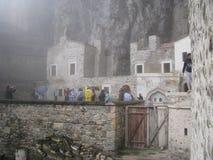 Pavo de Sumela Monastery Trebisonda Foto de archivo