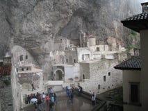 Pavo de Sumela Monastery Trebisonda Imagen de archivo