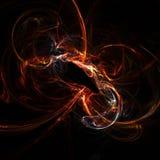 Pavo real del fuego Imagen de archivo libre de regalías