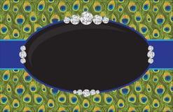 Pavo real Diamond Jewelry Fashion Poster Fotografía de archivo