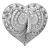 Pavo real en corazón Imagenes de archivo
