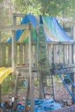 Pavo real en patio Fotos de archivo