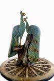 Pavo real tallado hecho a mano Imagen de archivo libre de regalías