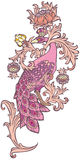 Pavone rosa Immagine Stock Libera da Diritti