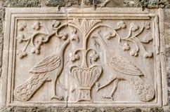 Pavos reales tallados, Venecia Foto de archivo