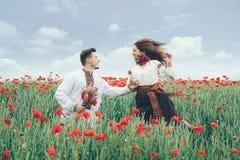 pavot de zone de couples beau Images libres de droits