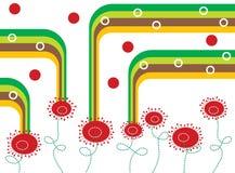 Pavots et pistes rouges bouclés Image libre de droits