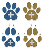 Paw animal footprint Royalty Free Stock Images