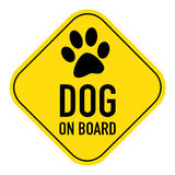 Paw on board sign Royalty Free Stock Image