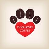 Paw Dog logo coffee vector. Royalty Free Stock Image