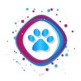 Paw Icon animal - illustration colorée moderne de vecteur - d'isolement sur le fond blanc Illustration de Vecteur