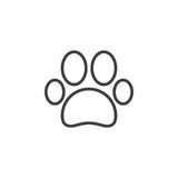 Paw line icon, outline vector sign Stock Image
