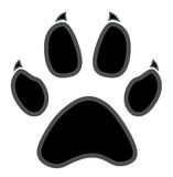 Paw logo silhouette Stock Images