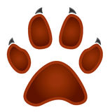 Paw logo silhouette Stock Photography