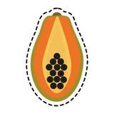 Paw paw fruit icon Royalty Free Stock Images